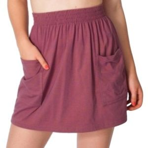 American Apparel Purple Speckl Jersey Pocket Skirt